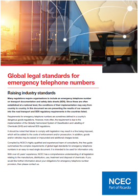 Global legal standards for emergency telephone numbers – summary tables (November 2019 Edition)